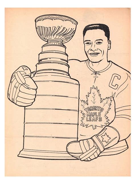 toronto maple leafs coloring pages