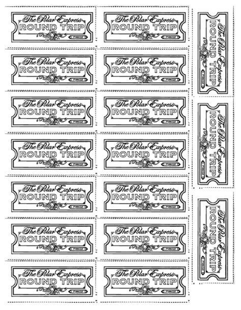 polar express tickets free printable worksheets