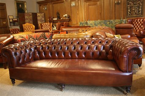 amerikanisches sofa antique classic leather chesterfield leather