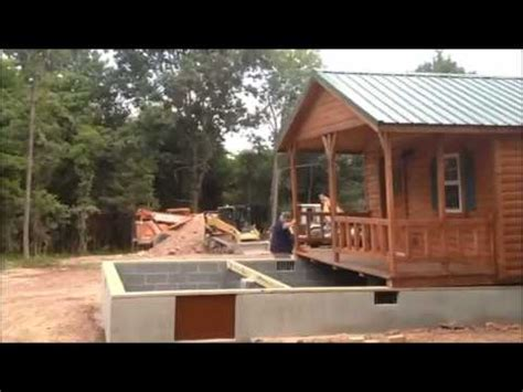 smart placement ft story cabins ideas home building lincoln 14x40 cabin placement on foundation virginia youtube