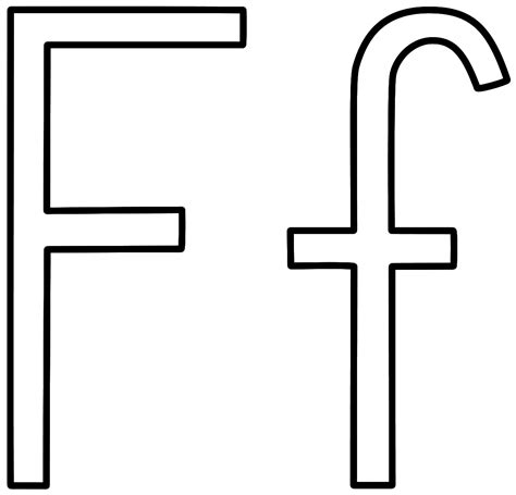 Capital F Coloring Page by Letter F Coloring Page Alphabet