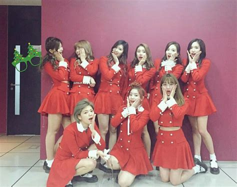 twice christmas watch twice in dashing red outfits wish you a merry