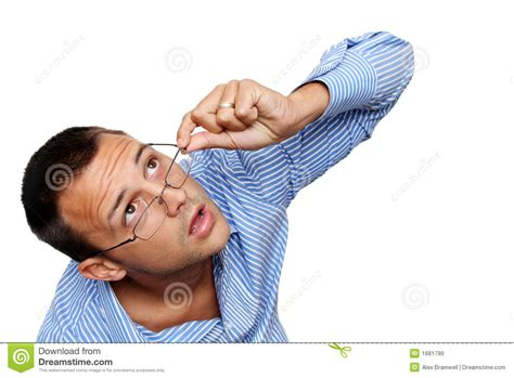 looking up looking up stock image image of think salesman thoughts 1681799