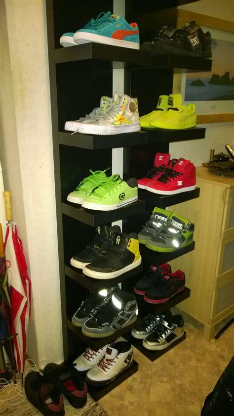 ikea narrow shoe my own diy shoe shelf made from ikea 180 s lack shelf house