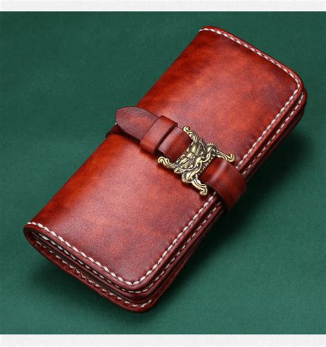 Mens Handmade Leather Wallets - handmade brown mens leather wallet makkashop