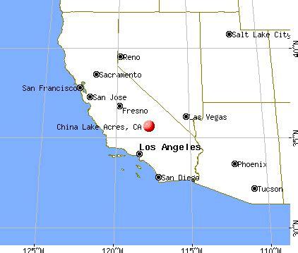 china lake california map california map