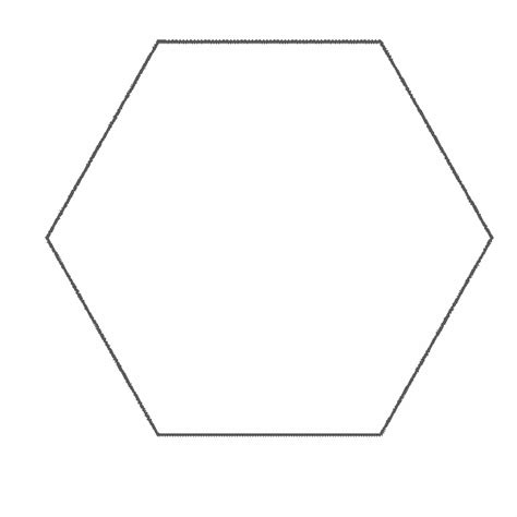 Shape Hexagon Coloring Page Hexagon Coloring Page