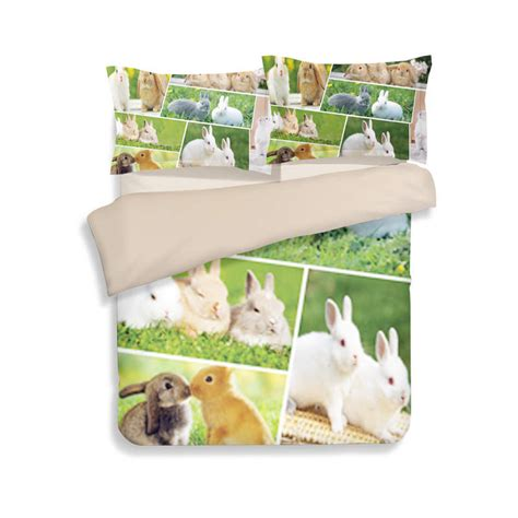 bedding for rabbits hot rabbit 3d printed comforter bedding sets single twin