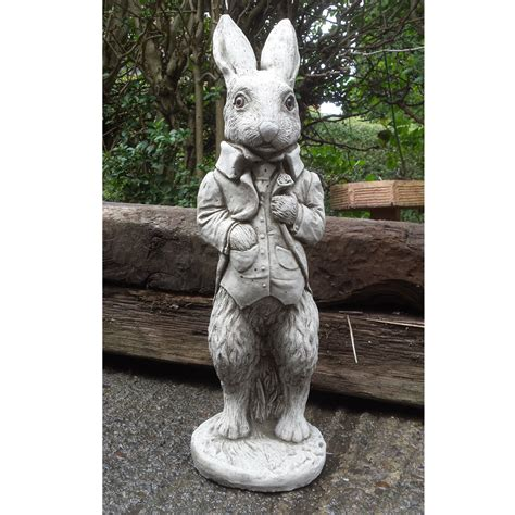 decorative ornaments for the home uk peter rabbit hand cast stone animal garden ornament patio