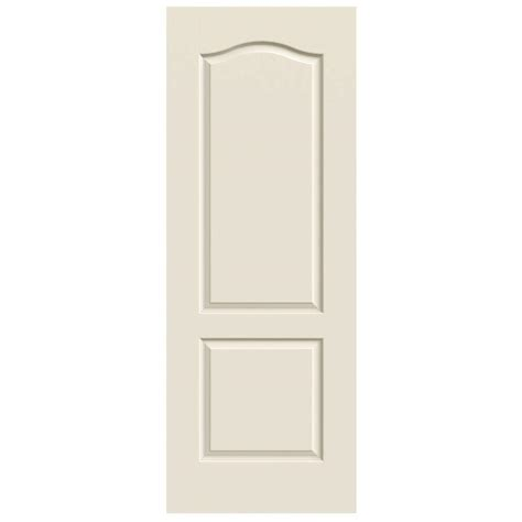 Composite Interior Doors Jeld Wen 30 In X 80 In Molded Smooth 2 Panel Eyebrow Primed White Hollow Composite