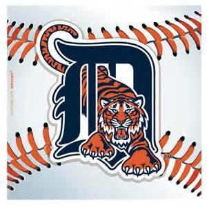 detroit tigers baseball beverage napkins birthdayexpress com