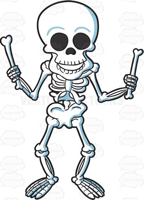skeleton clipart a skeleton with bones clipart vector
