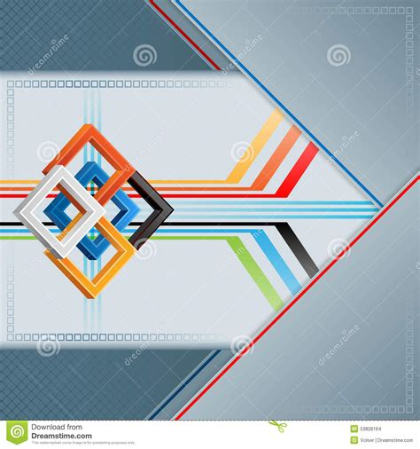 linear layout web design abstract background with three dimensions squares on