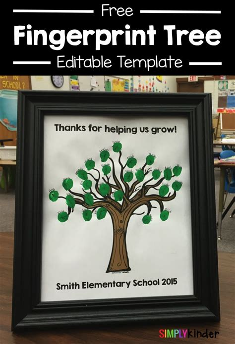 teacher presents to grade 1 students thank you gifts from your class simply kinder posts fingerprint tree