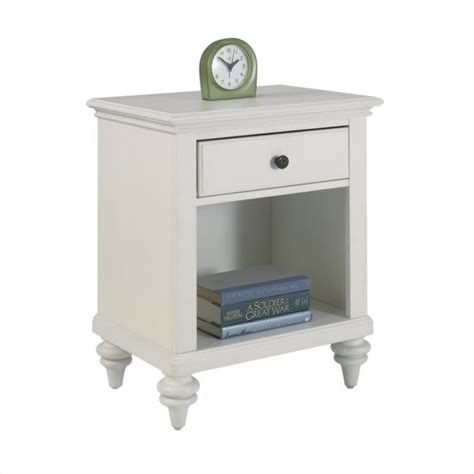 white night tables for bedroom night stand in brushed white finish 5543 42