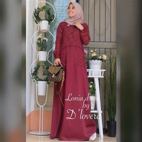 A85 Vparina Maroon Mix Kode D lonia dress by d lovera maroon