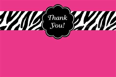 free printable zebra thank you tags zebra print thank you cards