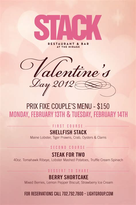 valentines dinner specials table d h 244 te southern wine knows