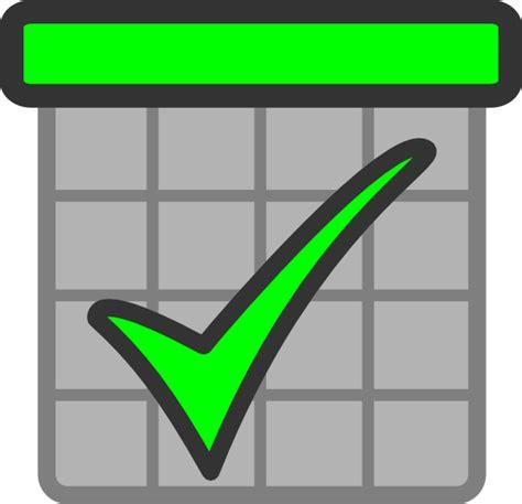 Check Calendar Check Calendar Green Clip At Clker Vector Clip