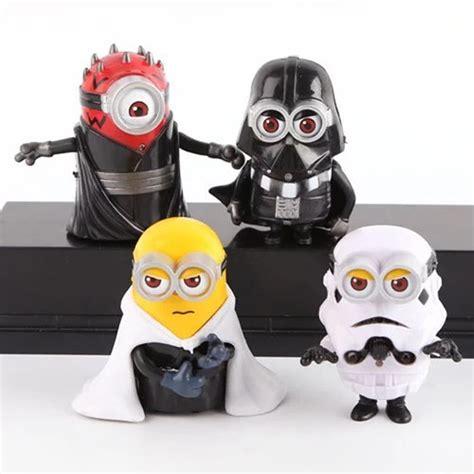Gelang Lego Stromtrooper Dartvade 4pcs set 8cm minion cos wars maul darth vader stormtrooper luke skywalker pvc
