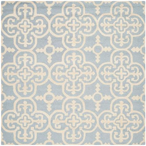 8 Ft Square Area Rugs Safavieh Cambridge Light Blue Ivory 8 Ft X 8 Ft Square Area Rug Cam133a 8sq The Home Depot