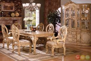 Tuscan Dining Room Furniture by Tuscany Plush Upholstered Dining Room Set With 16 Inch Leaf