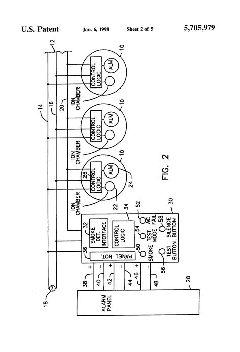 patent us5705979 smoke detector alarm panel interface