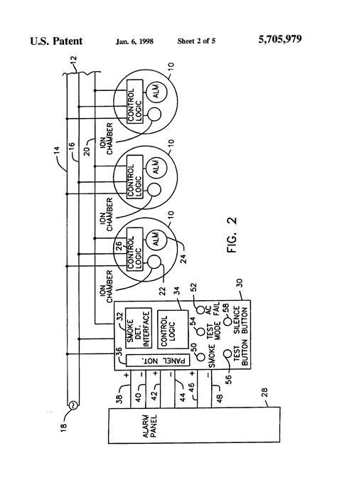 Patent US5705979 - Smoke detector/alarm panel interface