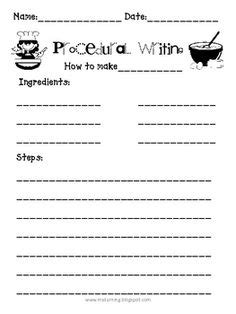procedure writing templates procedural writing how to teacherspayteachers