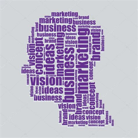 typography word cloud marketing typography 3d text word marketing vector