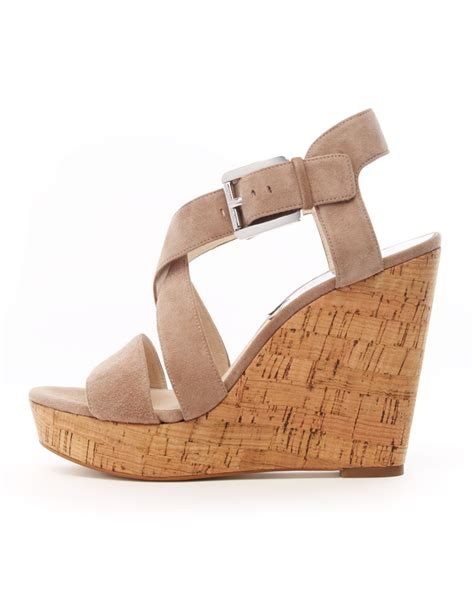 michael kors giovanna wedge sandal michael kors giovanna suede espadrille wedge in brown