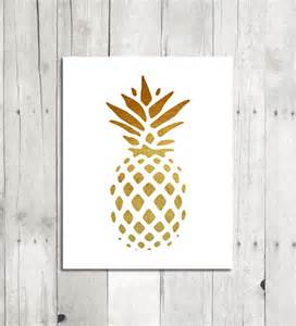 Pineapple Wall Decor by Pineapple Wall Golden Pineapple Printable Wall Modern Home Decor Digital Graphics