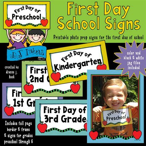 schools first day of 1596439645 these new printable photo prop signs will be so much fun for the first day of parents or