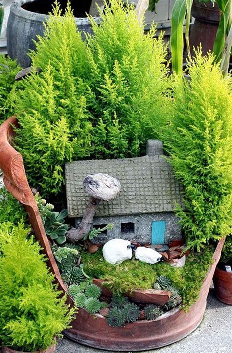 giardini incantati vasi rotti trasformati in piccoli giardini incantati