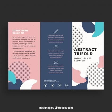 creative brochure templates free creative colorful trifold business brochure template