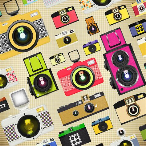 pattern background camera retro camera pattern photograph by setsiri silapasuwanchai