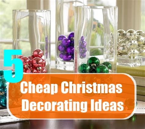 cheap christmas decoration ideas home design