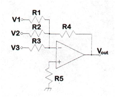 summing with resistors theory