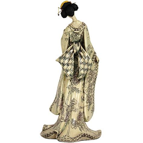 Asien Lifestyle 4947 by Japanese Geisha Dolls 18 Quot Geisha Figurine W Bamboo