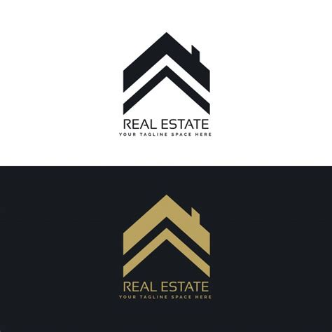 real estate logo design concept vector free download