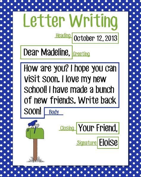 Thank You Letter Format 3rd Grade Magic Markers Letter Writing