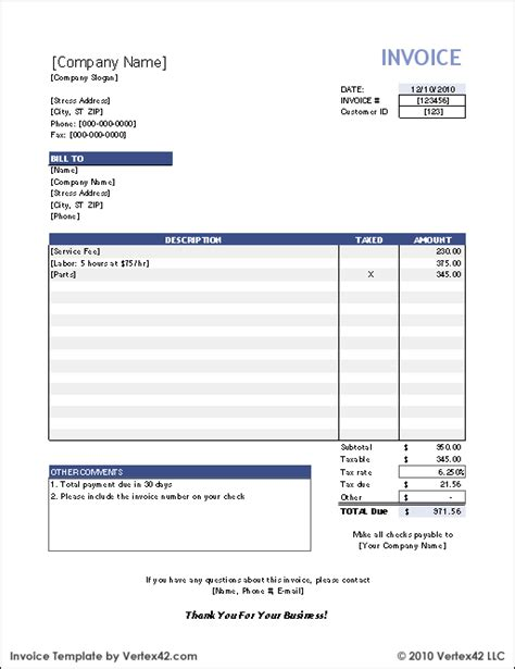 excel invoice template customs invoice excel stock invoice template