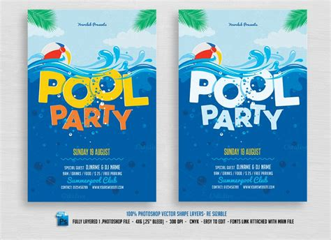 swimming invitations templates free pool invitation template gangcraft net