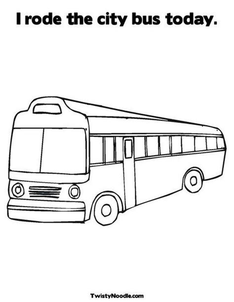bus coloring pages preschool city bus coloring page my city theme weekly home
