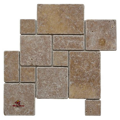 opus pattern travertine tiles noce opus mini french pattern travertine los angeles