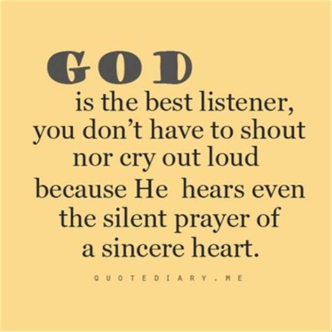 best prayer to god god is the best listener quotes a day