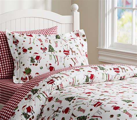 pottery barn christmas bedding posts the baby spot
