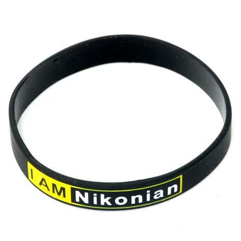 "Ducame ""I am Nikonian"" Silicon Rubber Lens Band / Lens Bracelet / Flash Band (100 Years Warranty"