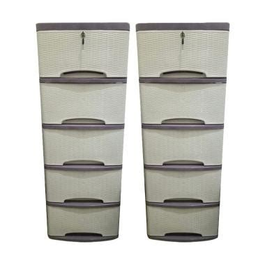 Lemari Plastik Putih jual motif rotan plastik lemari abu putih 5 susun