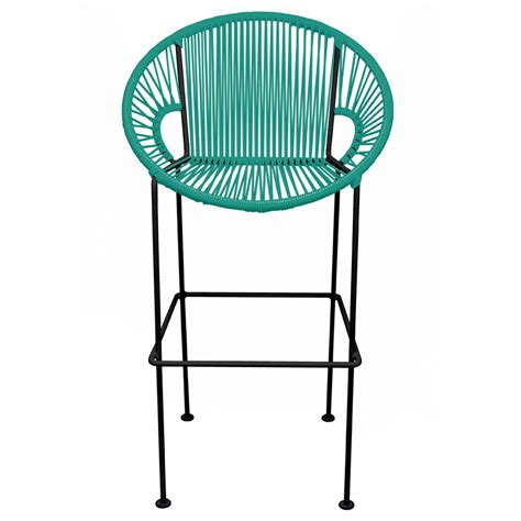 counter height stool turquoise weave by innit